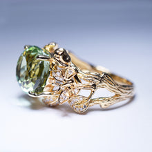 Load image into Gallery viewer, Green Tourmaline Ring - 6.322 cts