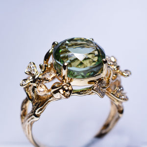 Green Tourmaline Ring - 6.322 cts
