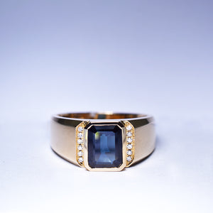 Blue Sapphire Ring - 1.952 cts