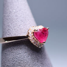 Load image into Gallery viewer, Ruby Ring - 1.096 cts heart
