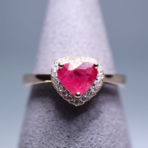 Ruby Ring - 1.096 cts heart