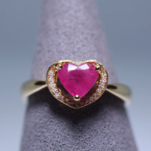 Load image into Gallery viewer, Ruby Ring - 1.27 cts Heart