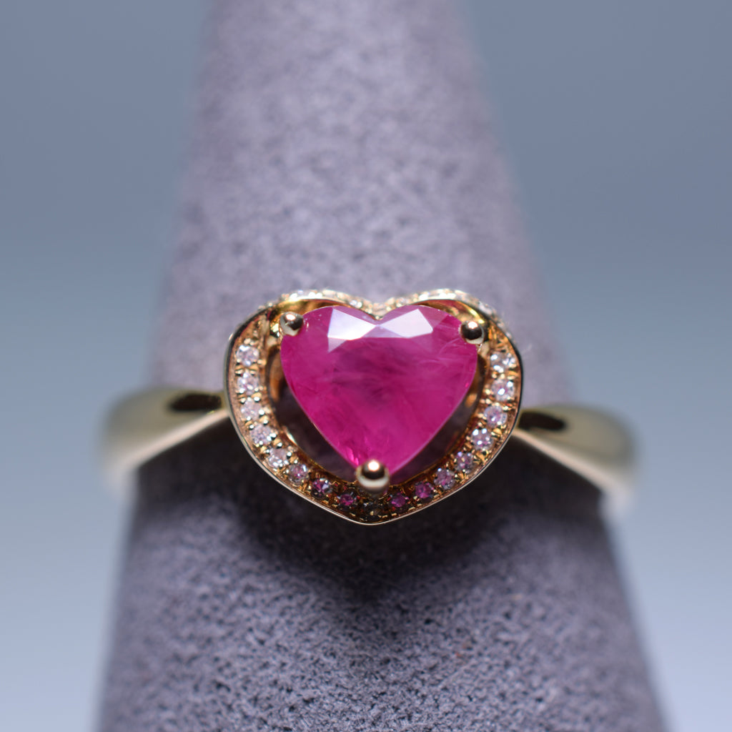 Ruby Ring - 1.27 cts Heart