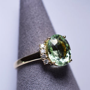 Green Tourmaline Ring - 3.56 cts