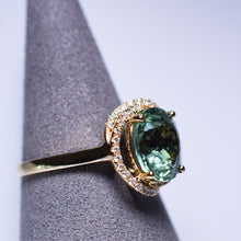 Load image into Gallery viewer, Green Tourmaline Ring - 3.73 cts