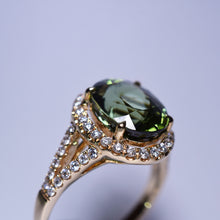 Load image into Gallery viewer, Green Tourmaline Ring - 3.761 cts