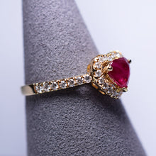 Load image into Gallery viewer, Ruby Ring - Heart