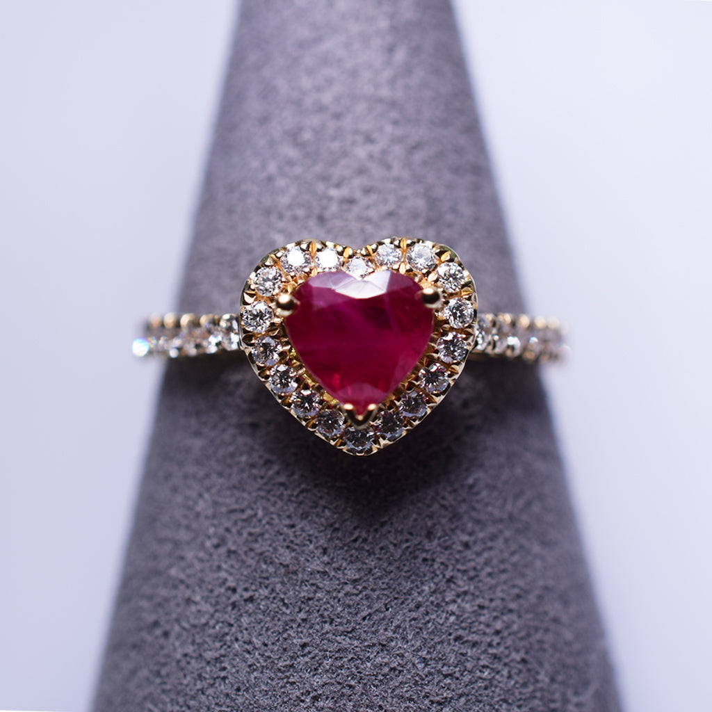 Ruby Ring - Heart
