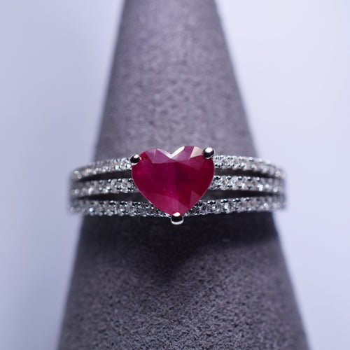 Ruby Ring - 1.265 cts heart