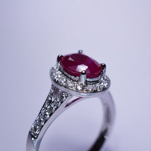 2.01ct Ruby Ring
