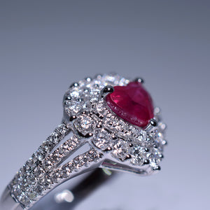 1.33ct Ruby Ring