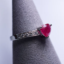 Load image into Gallery viewer, Ruby Ring - 1.15 cts heart