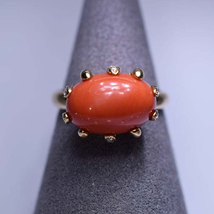 Coral 4.828ct Ring G1188