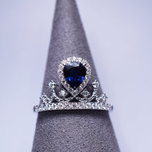 Load image into Gallery viewer, Blue Sapphire Ring - Crown