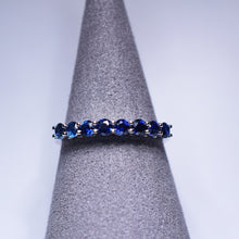 Load image into Gallery viewer, Blue Sapphire Ring - Band