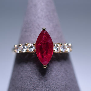 Ruby Ring - 1.24 cts Marquise