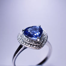 Load image into Gallery viewer, Blue Sapphire Ring - 1.79 cts Heart