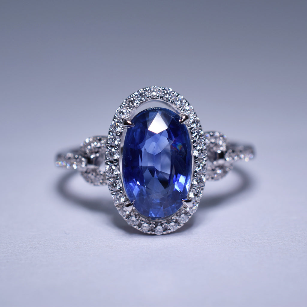 Blue Sapphire Ring - 2.81 cts