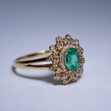Load image into Gallery viewer, 0.48ct Emerald Ring