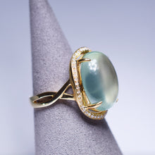 Load image into Gallery viewer, Prehnite Ring - 10.925 cts Cabochon