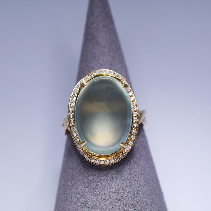 Prehnite 10.925ct Ring