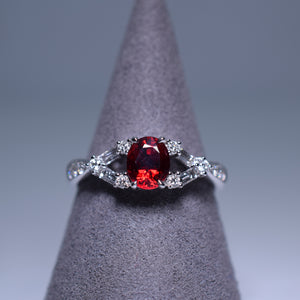 0.845ct Ruby Ring