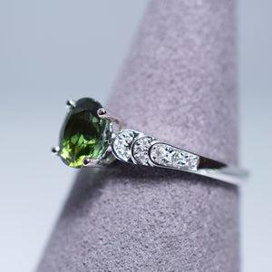 Green Tourmaline Ring - 1.276 cts