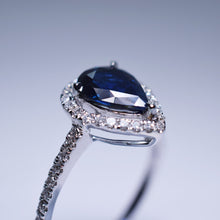 Load image into Gallery viewer, Blue Sapphire Ring - 1.07 cts Pear Shape