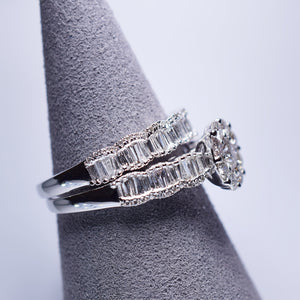 Diamond rings - Engagement and wedding band set