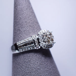Diamond Ring - 1 ctw Cluster