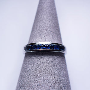 Blue Sapphire Ring - Band