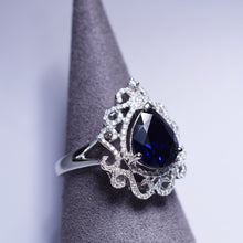 Load image into Gallery viewer, Blue Sapphire Ring - 2.84 cts