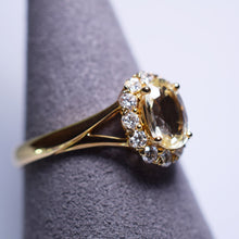 Load image into Gallery viewer, Yellow Sapphire Ring - 1.145 cts