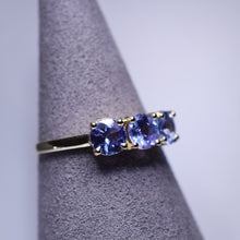 Load image into Gallery viewer, Tanzanite Ring - 1.40 ctw Trilogy