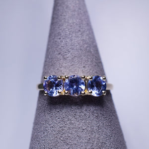 Tanzanite Ring - 1.40 ctw Trilogy