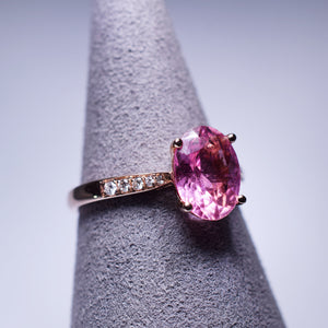 1.44ct Pink Tourmaline Ring