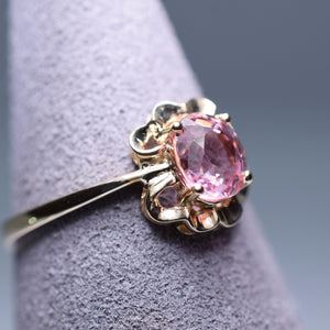 0.92ct Pink Tourmaline Ring