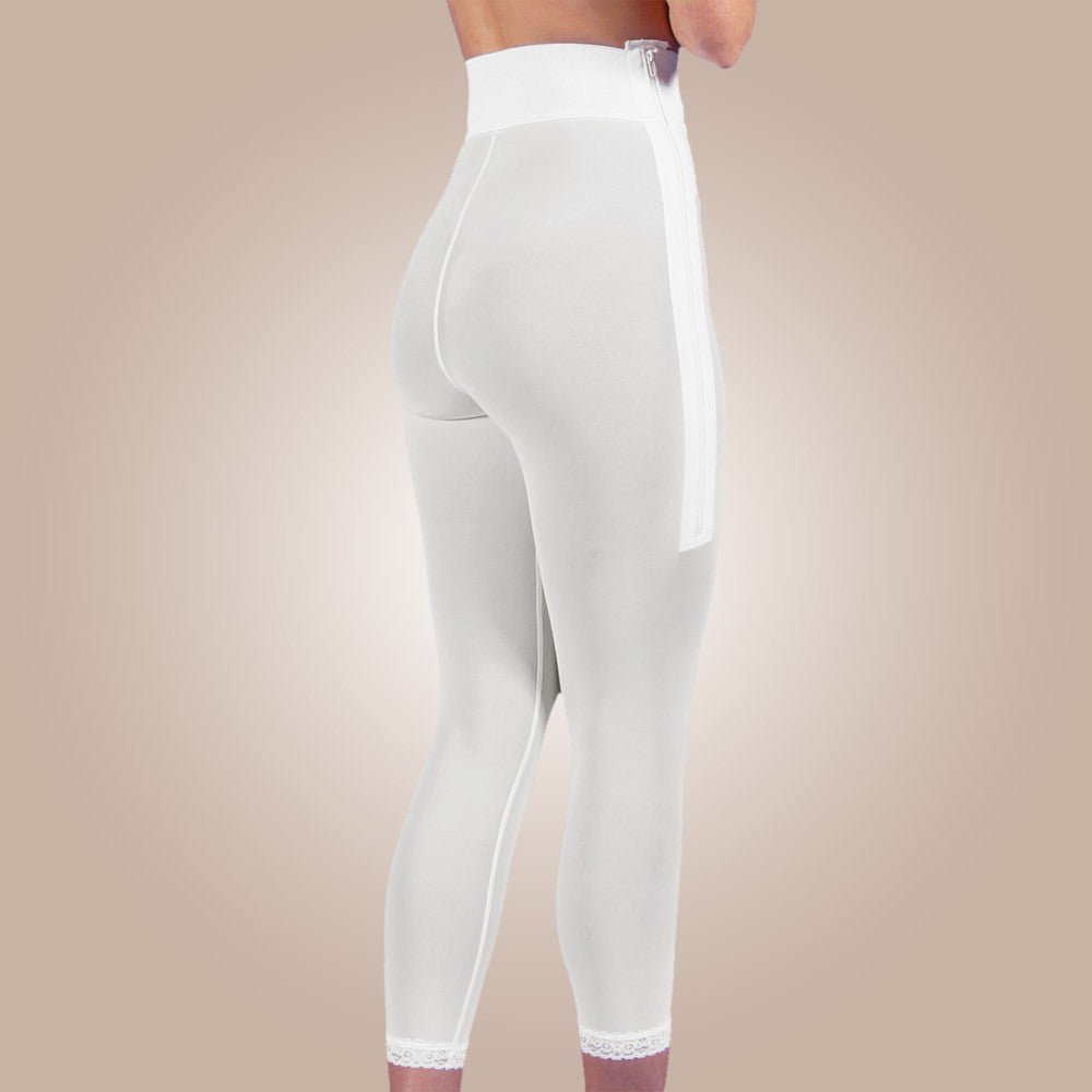Design Veronique - Zippered Below-Knee Leggings - Lipedema Products