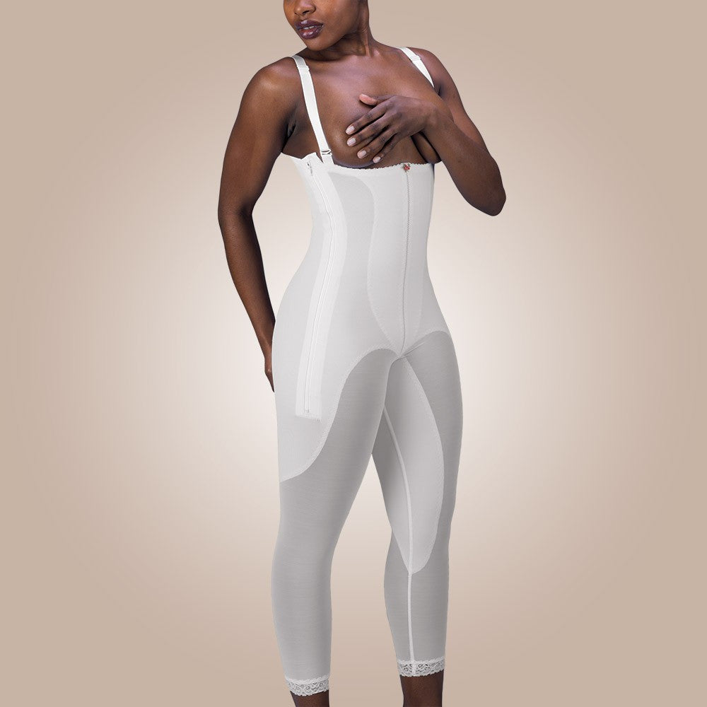 Design Veronique - Zippered Rubenesque High-Back Full-Body Leggings - Lipedema Products