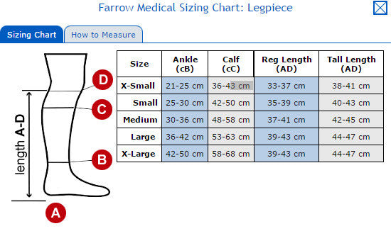 farrow wrap basic lower leg - Lipedema Products