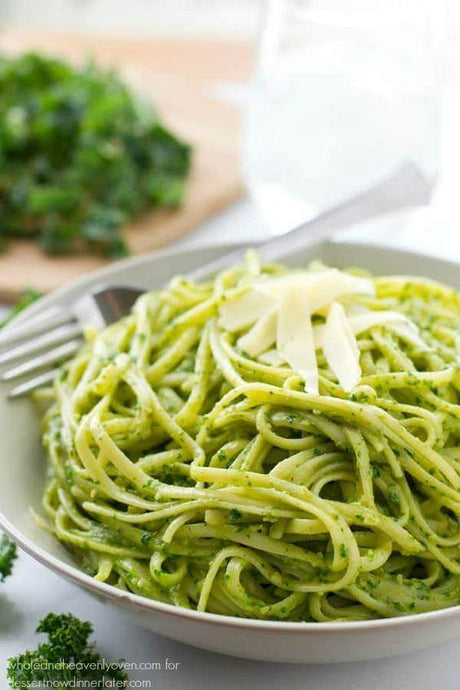 Creamy Fresh Pesto Pasta - a Toddler Favourite