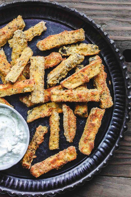 Aubergine Fries (Keto & Low Carb)
