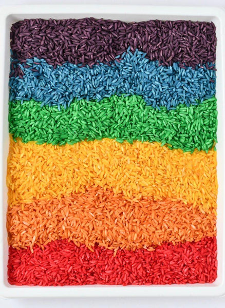 Toddler Play: Rainbow Rice