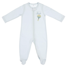 Load image into Gallery viewer, Blue Zip-Up Organic Cotton Sleepsuit - Little IA
