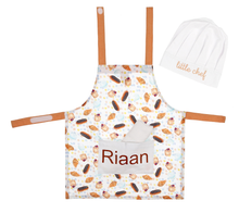 Load image into Gallery viewer, Little Chef Apron & Hat Set with Pocket - Little IA