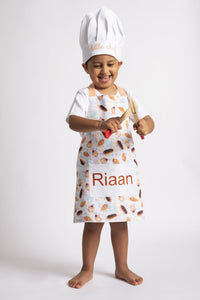 Little Chef Apron & Hat Set with Pocket - Little IA
