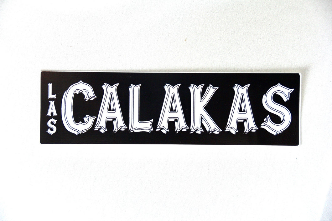 Bumper Sticker White on Black Rectangle  **CLEARANCE**