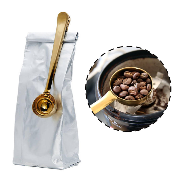 Clip-N-Scoop™ 2-in-1 Coffee Scoop