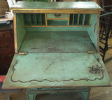 Old Green Painted Desk