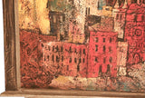 Mid Century Oil on Canvas - Listed Artist Mel Silverman - Studio Lane at Reposed NY Vintage Home Decor
